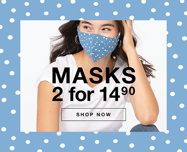 2 masks for 14.90