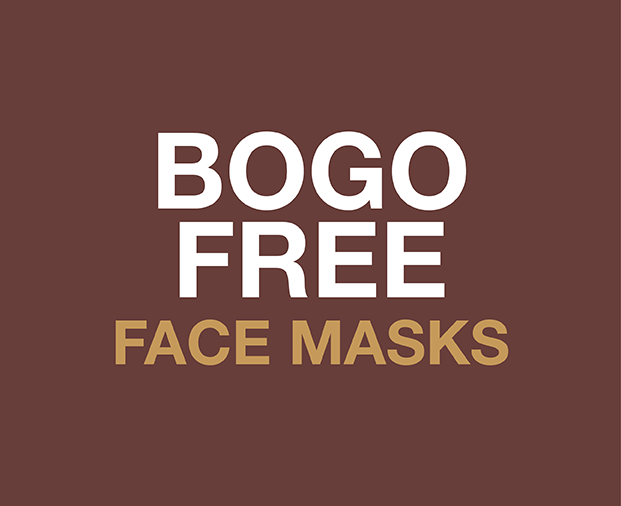 BOGO FREE - Buy one set of face masks, get your second one FREE!