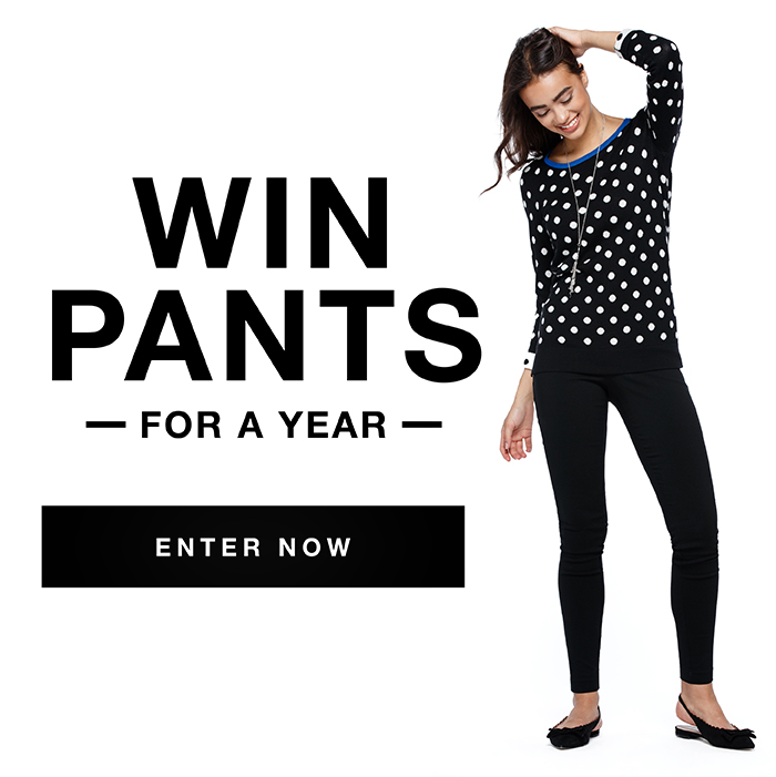 Enter to win pants for a year